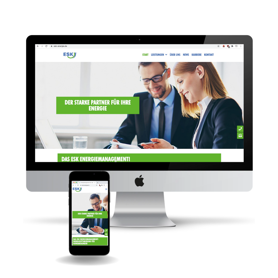 Neugestaltung einer bestehenden Webseite – www.esk-energie.de